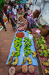Vegetables in the open market of Luang Prabang in Laos