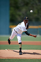 GCL Pirates pitcher Arlinthon De Dios (43) during a Gulf Coast League game against the GCL Braves on July 30, 2019 at Pirate City in Bradenton, Florida.  GCL Braves defeated the GCL Pirates 10-4.  (Mike Janes/Four Seam Images)