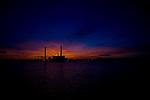 Coal burning power plant in Salem harbor, Salem Massachusetts