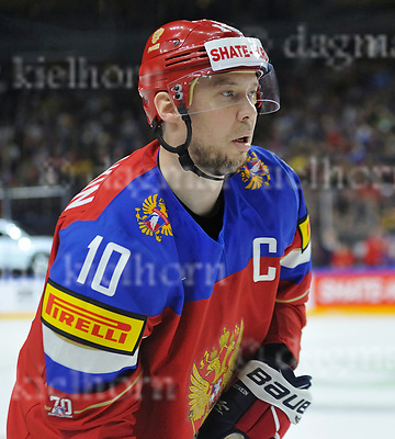 Friday, 5 May, 2017,Lanxess Arena , Cologne/GER<br /> IIHF World Hockey Championship 2017<br /> SWE  vs  RUS<br /> Russia&acute;s captain,one of the best hockey players, 	<br /> SERGEI MOZYAKIN during the gameFriday, 5 May, 2017,Lanxess Arena , Cologne/GER<br /> IIHF World Hockey Championship 2017<br /> USA  vs  GER
