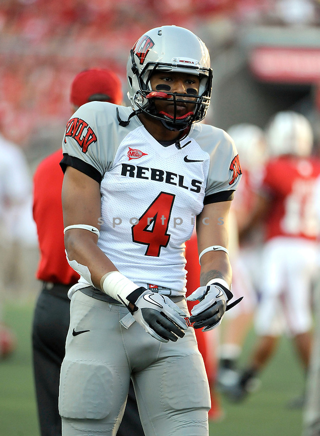 PHILLIP PAYNE, of the UNLV Rebels in action during the Rebels game against the Wisconsin Badgers on September 1, 2011 at Camp Randall Stadium in Madison, WI. Wisconsin beat UNLV 51-17.