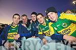 Mark Dennehy(Fosa), Aidrain Sheehan(Ballyheigue), Derry O'Sullivan, Darren Dennehy and Colin Davidson(Fosa) pictured at the International Rules match last Saturday in the Gaelic Grounds, Limerick.