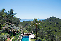Magnificent views open up acoss the island and the many garden terraces which descend from the villa