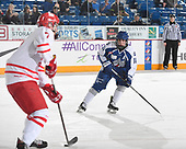 Sudbury, ON - April 24 2018 - Game 6 - Notre Dame Hounds vs Sudbury Nickel Capital Wolves the 2018 TELUS Cup at the Sudbury Community Arena in Sudbury, Ontario, Canada (Photo: Matthew Murnaghan/Hockey Canada)