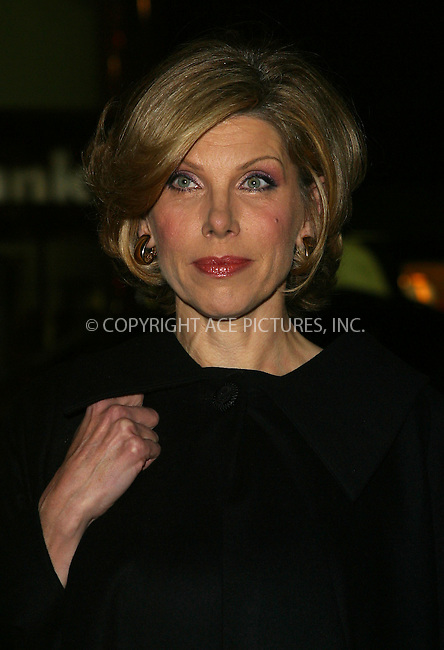 Christine Baranski attends the benefit for the American Foundation for AIDS Research (amfAR) in New York, February 3, 2003. Please byline: Alecsey Boldeskul/NY Photo Press.   ..*PAY-PER-USE*      ....NY Photo Press:  ..phone (646) 267-6913;   ..e-mail: info@nyphotopress.com
