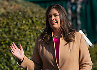 MAR 25 Sarah Sanders speaks at the White House