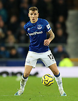 23rd  November 2019; Goodison Park , Liverpool, Merseyside, England; English Premier League Football, Everton versus Norwich City; Lucas Digne of Everton controls the ball and looks up before passing - Strictly Editorial Use Only. No use with unauthorized audio, video, data, fixture lists, club/league logos or 'live' services. Online in-match use limited to 120 images, no video emulation. No use in betting, games or single club/league/player publications