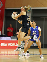 07.08.2010 Silver Ferns Casey Williams in action during the Silver Ferns v Samoa netball test match played at Te Rauparaha Arena in Porirua  Wellington. Mandatory Photo Credit ©Michael Bradley.