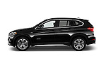 Car Driver side profile view of a 2017 BMW X1 xDrive28i 5 Door SUV Side View