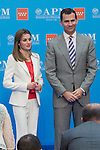 05.06.2012. Prince Felipe of Spain and Princess Letizia of Spain Attens Awards The Press Association of Madrid 2011 in the Real Casa de Correos. In the image Princess Letizia and Prince Felipe (Alterphotos/Marta Gonzalez)