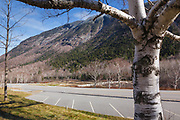 Crawford Notch State Park in Hart's Location, New Hampshire USA during the autumn months.