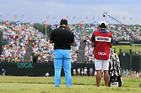 Hideki Matsuyama (JPN) on the par3 9th tee during Saturday's Round 3 of the 117th U.S. Open Championship 2017 held at Erin Hills, Erin, Wisconsin, USA. 17th June 2017.<br /> Picture: Eoin Clarke | Golffile<br /> <br /> <br /> All photos usage must carry mandatory copyright credit (&copy; Golffile | Eoin Clarke)