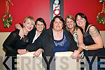 Birthday Girl: Christine Buckley(centre) from Listowel,  celebrating her birthday with friends on Saturday night in Fitzgeralds Restaurant, Listowel. Nora Power, Michelle McCarron, Christine Buckley, Mary Walsh and Bridget Molyneaux.