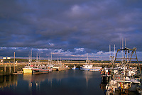 Overton, NS, Nova Scotia, Canada - Commercial Fishing Boats in Harbor / Harbour near Yarmouth, Sunset - Yarmouth & Acadian Shores Region