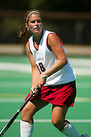 30 August 2005: Hillary Braun during Stanford's 5-1 loss to Delaware at the Varsity Turf Field in Stanford, CA.