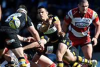Nic Berry of London Wasps during the Aviva Premiership match between London Wasps and Gloucester Rugby at Adams Park on Sunday 1st April 2012 (Photo by Rob Munro)