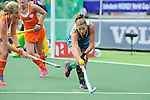 The Hague, Netherlands, June 14: Kate Jenner #22 of Australia defends during the match during the field hockey gold medal match (Women) between Australia and The Netherlands on June 14, 2014 during the World Cup 2014 at Kyocera Stadium in The Hague, Netherlands. Final score 2-0 (2-0)  (Photo by Dirk Markgraf / www.265-images.com) *** Local caption ***