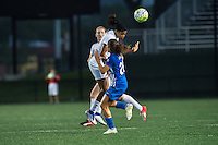 Allston, MA - Wednesday Sept. 07, 2016: Jessica McDonald, Angela Salem during a regular season National Women's Soccer League (NWSL) match between the Boston Breakers and the Western New York Flash at Jordan Field.