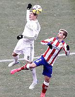 Atletico de Madrid's Antoine Griezmann (r) and Real Madrid's Toni Kroos during La Liga match.February 7,2015. (ALTERPHOTOS/Acero) /NORTEphoto.com