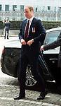 S.A.R. William Duc of Cambridge : Lunch at the Provincial Palace during the Commemoration of the 100th anniversary of the First World War, in Li&egrave;ge, Belgium, on August 4, 2014.<br /> <br /> S.A.R. William duc de Cambridge: Lunch au Palais Provincial lors des comme&acute;morations organise&acute;es par le<br /> Gouvernement fe&acute;de&acute;ral belge a` l&rsquo;occasion<br /> du Centi&egrave;me anniversaire de la<br /> Premie`re Guerre mondiale, &agrave; Li&egrave;ge, Belgique. 4 Ao&ucirc;t 2014.