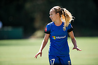 Seattle, WA - Saturday, August 26th, 2017: Beverly Yanez during a regular season National Women's Soccer League (NWSL) match between the Seattle Reign FC and the Portland Thorns FC at Memorial Stadium.