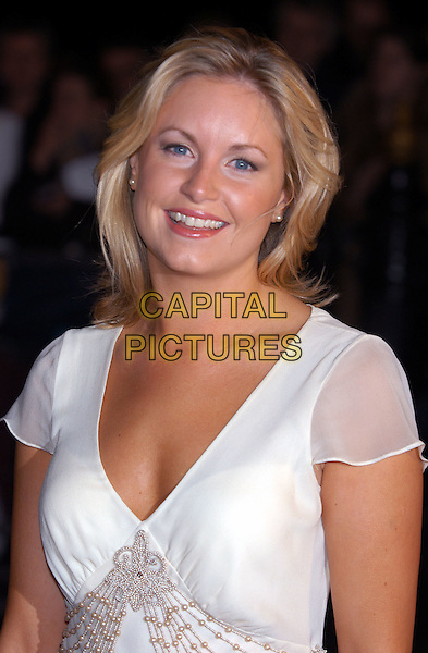 KIM MEDCALF .arrives at Albert Hall for the National Television Awards 2002.Ref: PL.www.capitalpictures.com.sales@capitalpictures.com.©Capital Pictures
