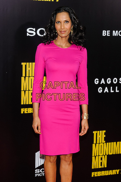 04 February 2014 - New York, New York- Padma Lakshmi. &quot;The Monuments Men&quot; World Premiere. <br /> CAP/ADM/MSA<br /> &copy;Mario Santoro/AdMedia/Capital Pictures