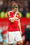 Bastian Schweinsteiger of Manchester United dejected at full time during the Emirates FA Cup match at Old Trafford. Photo credit should read: Philip Oldham/Sportimage