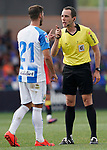 CD Leganes' Ruben Perez (l) have words with the Spanish referee Aitor Gorostegui Fernandez-Ortega during friendly match. July 13,2018. (ALTERPHOTOS/Acero)