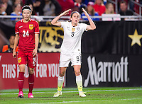 Phoenix, AZ - December 13, 2015: The USWNT defeated China 2-0 during the Victory Tour at University of Phoenix Stadium.