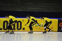 SCHAATSEN: HEERENVEEN: 24-10-2014, IJsstadion Thialf, Topsporttraining Team LottoNL - Jumbo, Sven Kramer, Hein Otterspeer, Gerben Jorritsma, ©foto Martin de Jong