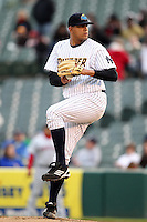 Portland Sea Dogs starting pitcher Dellin Betances #50 delivers a pitch during a game against the Trenton Thunder at Waterfront Park on May 4, 2011 in Trenton, New Jersey.  Trenton defeated Portland by the score of 7-1.  Photo By Mike Janes/Four Seam Images