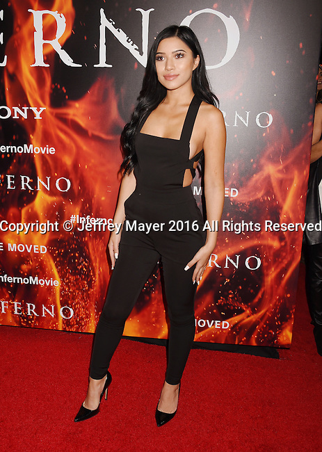 LOS ANGELES, CA - OCTOBER 25: Actress/social influencer Julia Kelly arrives at the screening of Sony Pictures Releasing's 'Inferno' at DGA Theater on October 25, 2016 in Los Angeles, California.
