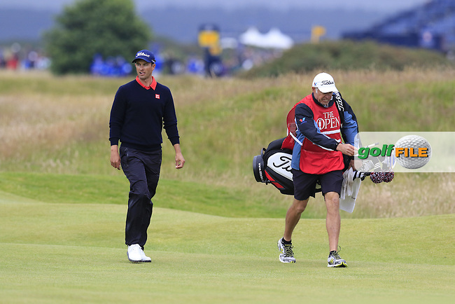 Adam Scott (AUS) and caddy Steve Williams walk to the 17th green during Monday's Final Round of the 144th Open Championship, St Andrews Old Course, St Andrews, Fife, Scotland. 20/07/2015.<br /> Picture Eoin Clarke, www.golffile.ie