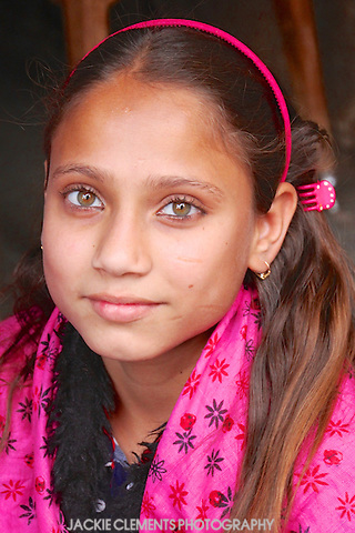 """A young girl in the bazaars of Jodhpur, the """"Blue City""""."""