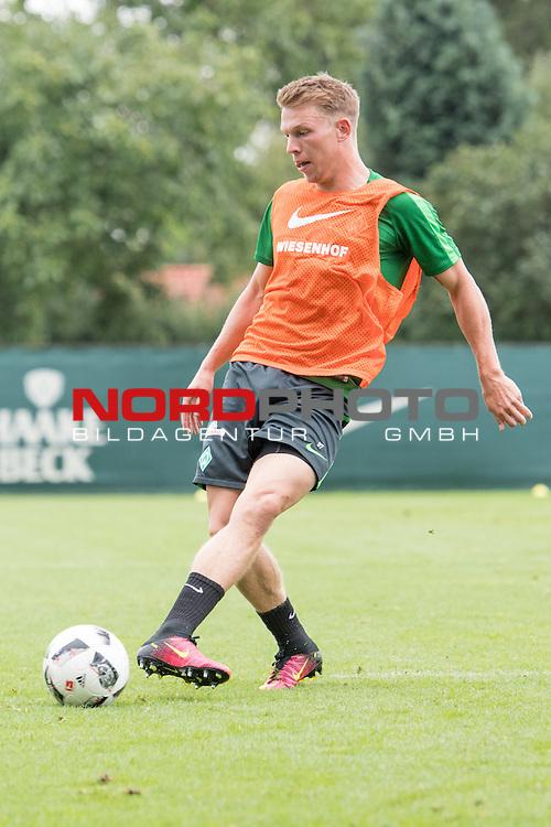 04.08.2016, Trainingsgelaende, Bremen, GER, 1.FBL, Training Werder Bremen<br /> <br /> im Bild<br /> Janek Sternberg (Bremen #37), <br /> <br /> Foto &copy; nordphoto / Ewert