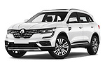 Stock pictures of low aggressive front three quarter view of a 2020 Renault Koleos Initiale Paris 5 Door SUV