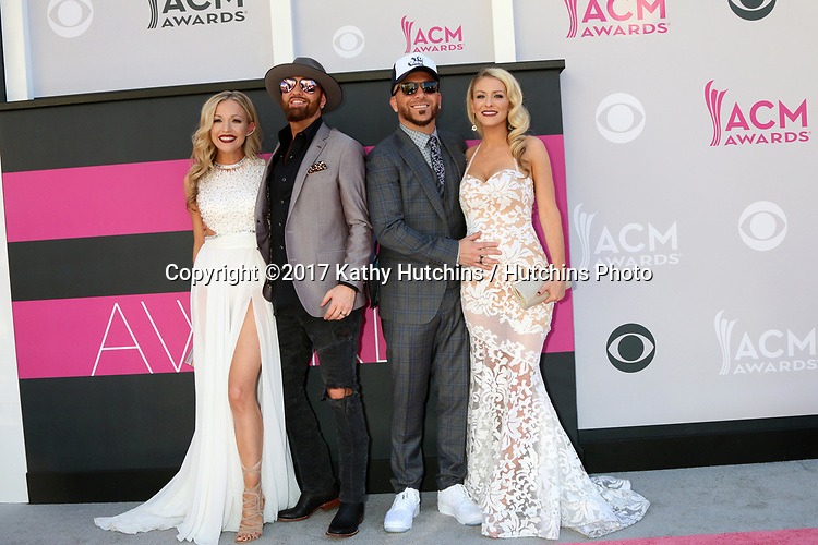 LAS VEGAS - APR 2:  Locash, Kristen White, Preston Brust, Chris Lucas, Kaitlyn Lucas at the Academy of Country Music Awards 2017 at T-Mobile Arena on April 2, 2017 in Las Vegas, NV