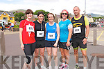 Lorraine Curran, Maria Curran, Valerie Curran, Fiona Kirwan and Cathal Kirwan (all from Dingle) at the start of the Dingle Half Marathon on Saturday afternoon.