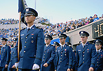 November 7, 2009:  Air Force cadets parade into Falcon Stadium prior to the annual battle between the Army Black Knights and the Air Force Falcons at Falcon Stadium, U.S. Air Force Academy, Colorado Springs, CO.  Air Force defeats Army 35-7.
