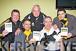 Dr Crokes members with the clubs new DVD 'Bringing the Bishop Home' about the clubs victory over Austin Stacks in the County final, all proceeds will go to the players holiday fund l-r:Charlie Potts, Harry O'Neill, John Keogh, JC O'Shea and Brian Looney