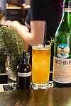 "The drink, ""Butcher Town,"" on the bar at Cow, Pig, Bun Restaurant in Kihei, Maui, Hawaii, USA"