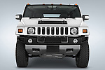 Straight front view of a 2008 Hummer H2 SUV