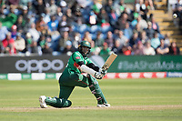Shakib Al Hasan (Bangladesh) pulls to square leg of Adil Rashid during England vs Bangladesh, ICC World Cup Cricket at Sophia Gardens Cardiff on 8th June 2019