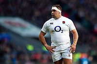 Ben Moon of England looks on during a break in play. Guinness Six Nations match between England and France on February 10, 2019 at Twickenham Stadium in London, England. Photo by: Patrick Khachfe / Onside Images
