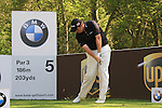 Shane Lowry teeing off from the 3rd.during round three of the BMW PGA championship 2010 at Wentworth golf club, Surrey England..Picture Fran Caffrey/Newsfile.ie