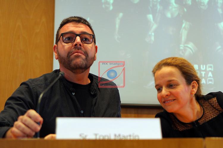 XXII Premis de Teatre de Catalunya.<br /> Presentacio Nominacions Premis Butaca 2016.<br /> Toni Martin &amp; Gloria Cid.