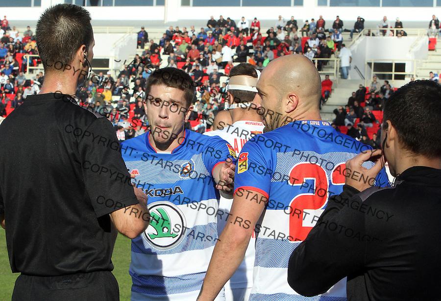 Fudbal Super liga season 2015-2016<br /> Radnicki (Nis) v Borac<br /> Fudbaleri Borca<br /> Nis, 1.11.2015.<br /> foto: Sasa Djordjevic/Starsportphoto &copy;