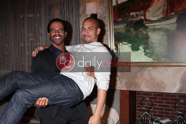 Kristoff St John, Bryton James<br /> at the Young and Restless 41st Anniversary Cake, CBS Television City, Los Angeles, CA 03-25-14<br /> David Edwards/DailyCeleb.com 818-249-4998