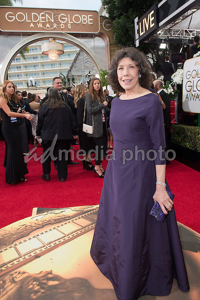 "Nominated for BEST PERFORMANCE BY AN ACTRESS IN A TELEVISION SERIES – COMEDY OR MUSICAL for her role in ""Grace and Frankie,"" actress Lily Tomlin attends the 73rd Annual Golden Globes Awards at the Beverly Hilton in Beverly Hills, CA on Sunday, January 10, 2016. Photo Credit: HFPA/AdMedia"